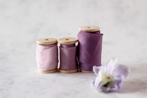 Ruban de soie, ruban orchidée clair, violet clair de teint plante, à la main, plante, teint mariage décoration, des accessoires de photographie, ruban en soie violet, ruban de teint 981b0b