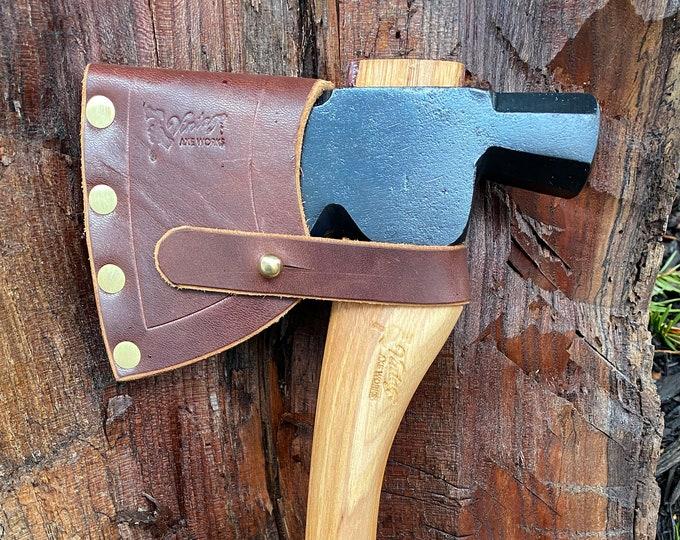 Featured listing image: Vintage Plumb Half Hatchet Axe – Restored