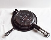 Griswald 8 Waffle Iron Set with Stand Cast Iron Cookware Stove Top and Fire Pit Cookware