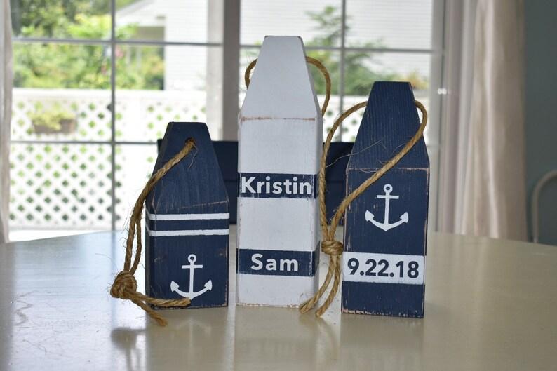 Wedding Guestbook Buoys Save the Date Wedding Decor Nautical Decor Lobster Buoys