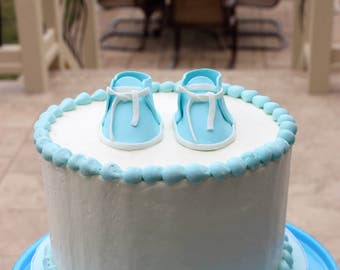 Baby Shoes Cake Decoration, Baby Shoes Cake Topper, Gumpaste Baby Shoes, Edible Shoes, Baby Shower Cake Topper Shoes, Edible Shoe Topper