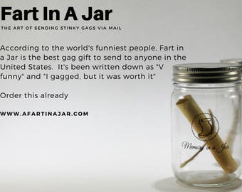 Fart In A Jar - Gag Gift for any funny occasion
