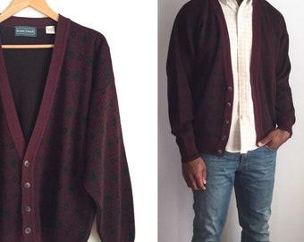 Vintage Cardigan, Vintage Sweater, 80s Cardigan, 80s Sweater
