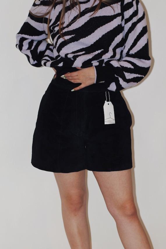 1980s Black Suede Shorts