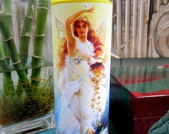 Goddess Fortuna Candle, Hand-Embellished