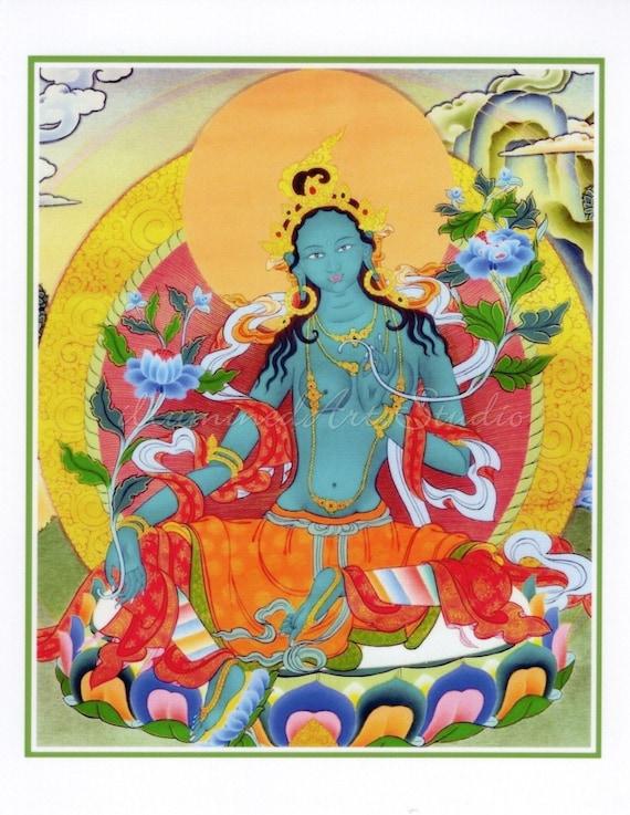 Goddess Green Tara Card