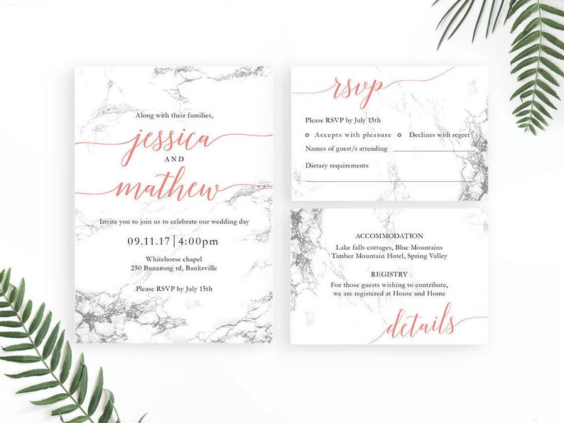 image regarding Etsy Wedding Invitations Printable referred to as Marble Invites, Printable Marriage Invitation, Electronic Obtain, Marble Wedding ceremony Invitations, Tailor made Very low Wedding day Invite, Impressive Marriage