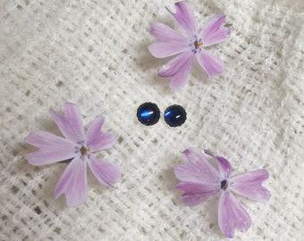 Lab-created Sapphire Earrings | 6mm