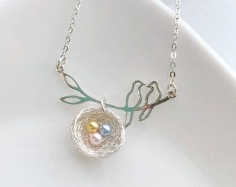 e6d2806b91d7e Bird nest necklace   Etsy