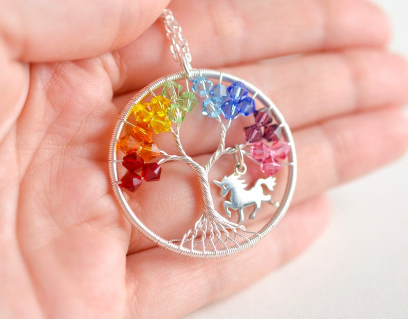 Unicorn Necklace Rainbow Unicorn Necklace Magical Jewelry image 0