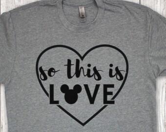 So This Is Love T-Shirt/Disney Cinderella Shirt/Disney Unisex Shirt