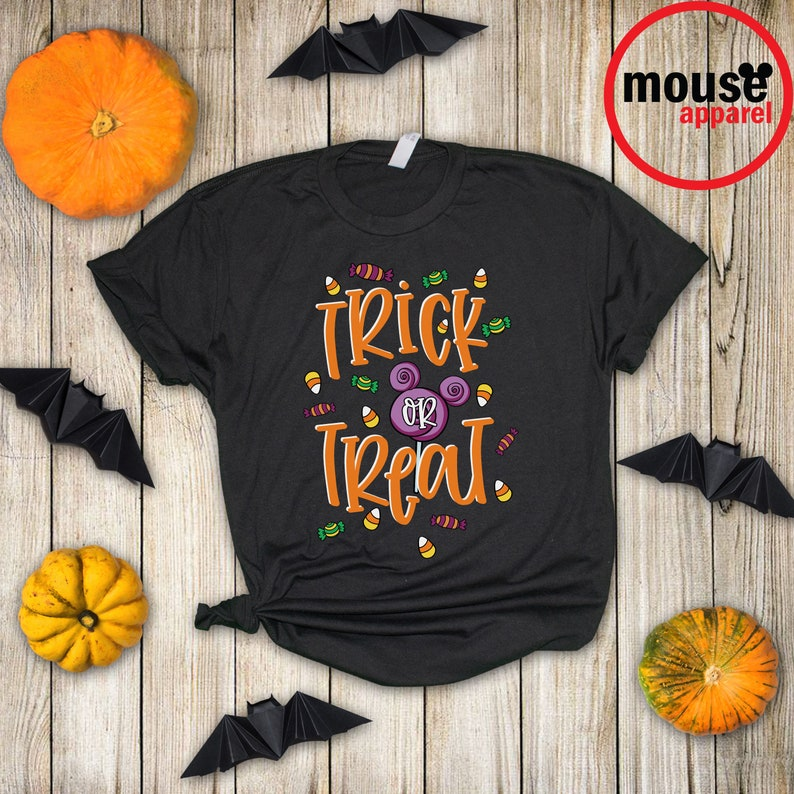 Disney Halloween Trick or Treat Unisex Shirt Disney Halloween Black