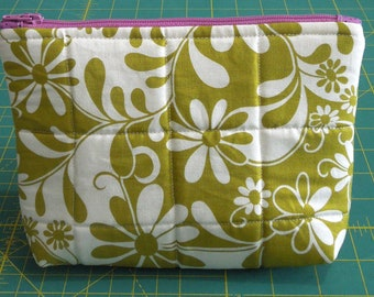 Olive and White pouch