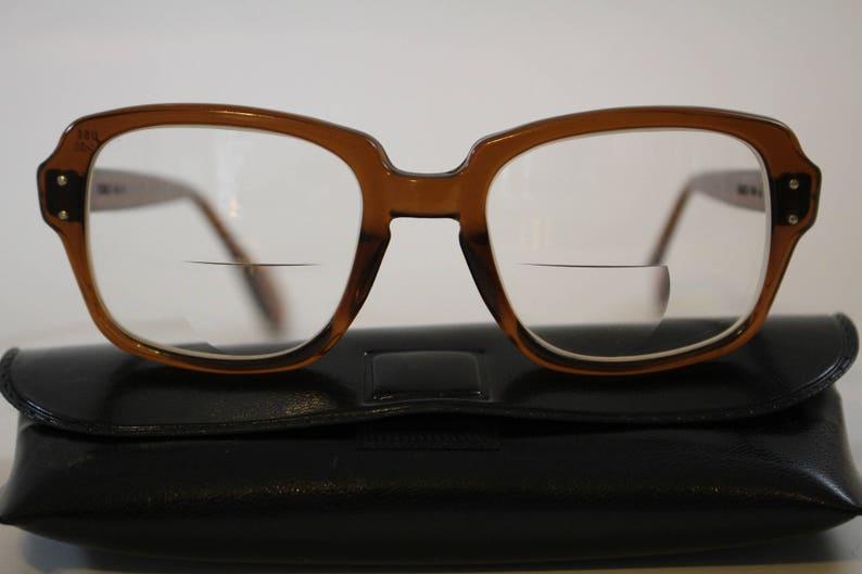 184f44e5b08 ROMCO Brown Designer Eyeglasses Frames 60s 70s Military