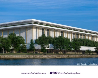John F. Kennedy Center for the Performing Arts Digital Print, Washington DC, Travel Photography | Printable Wall Art, Instant Download Decor