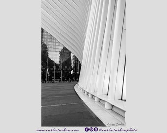Black and White Oculus New York City Digital Print, Instant Download | Architecture Photography, Vertical Printable Wall Art, Home Decor