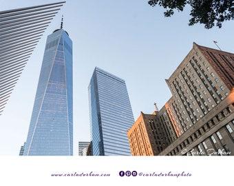 World Trade Center Skyline Digital Print, Instant Download | New York City Photography, Printable Wall Art, Horizontal Poster, Home Decor