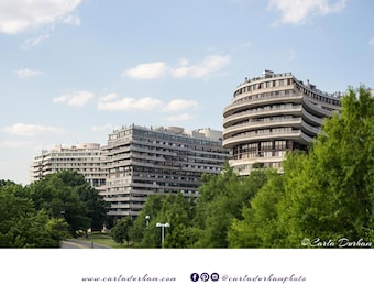 Watergate Complex Digital Print, Washington, DC, Cityscape Travel Photography | Printable Wall Art, Instant Download, Home Decor