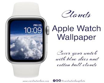 Clouds: Apple Watch Wallpaper | Instant Download, Digital Photograph, Color Design
