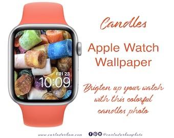 Candles: Apple Watch Wallpaper | Instant Download, Digital Photograph, Color Design