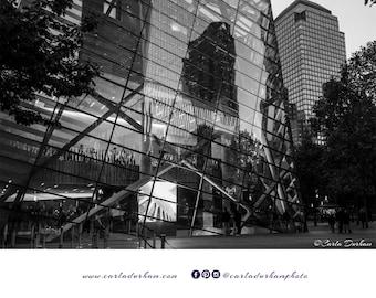 9/11 Memorial Museum Black & White Digital Print, Instant Download | New York City Photography, Printable Wall Art, Horizontal, Home Decor