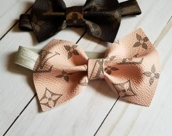 5e03ac492 Louis Vuitton Inspired Leather Bow