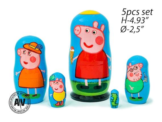 Peppa Pig Nesting Dolls For Kids Peppa Pig Gift Idea For Kids Matryoshka Stacking Toys For Babies Babushka Stacking Dolls Peppa Pig Nursery
