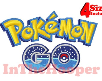 POKEMON GO Logo Machine EMBROIDERY Designs Pes, Hus, Jef, Dst, Exp, Vip, Vp3, Xxx, Pcs