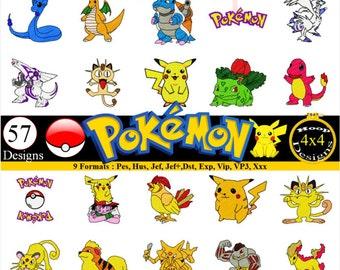 Pokemon Embroidery Designs Pes, Hus, Jef, Dst, Exp, Jef+, Vip, Vp3, Xxx