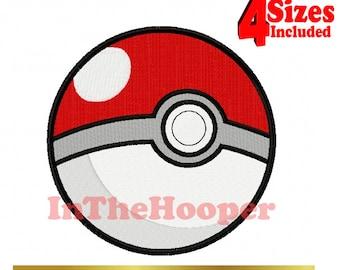 Pokemon Pokeball 2 Machine EMBROIDERY Designs Pes, Hus, Jef, Dst, Exp, Vip, Vp3, Xxx, Pcs