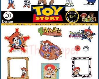 DISNEY TOY STORY Embroidery Designs Pes, Hus, Jef, Dst, Exp, Jef+, Vip, Vp3, Xxx