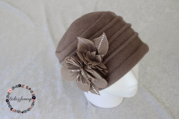 737ff169cf1 Womens Wool Hat Floral Hat Wool Cap Winter Hat Felted