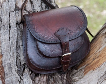 Small leather bag, crossbody bag, leather purse, shoulder bag, genuine leather, leather bag woman
