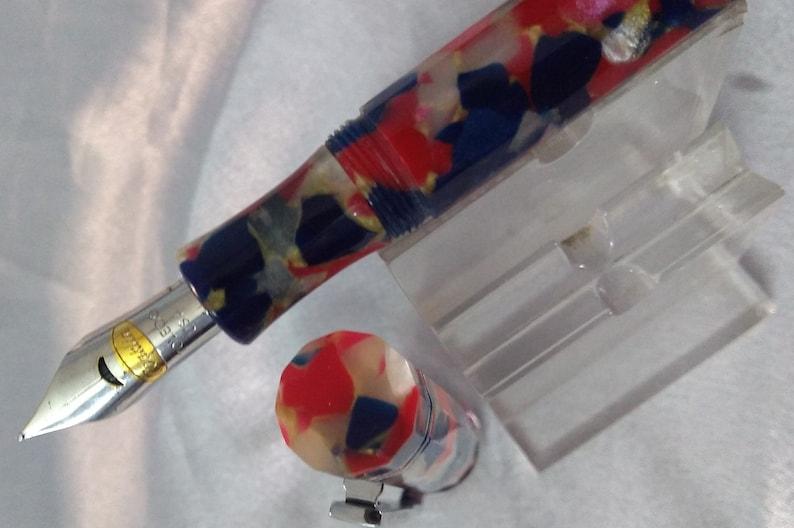 Conklin Endura Patriot Red Fountain Pen Medium Nib Made In USA