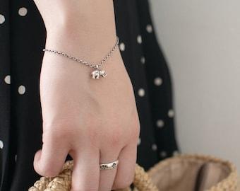 Silver Charm Bracelet_Mini Elephant