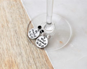 PERSONALISED - Wine Glass Charms (set of 2)