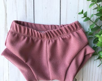 Mauve pink shorties shorts sizes 0-3 months to 4T