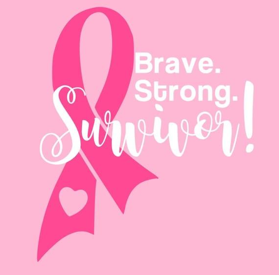 Cancer Survivor Awareness Ribbon Cutting File Studio 3 Etsy