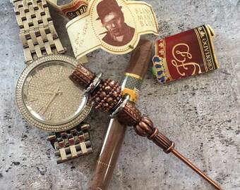 Copperhead Cigar Stick, Cigar Poker, Cigar Holder, Nubber, Cigars