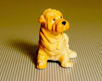 Shar Pei porcelain figurine Sharpay Dog miniature Souvenirs from Russia