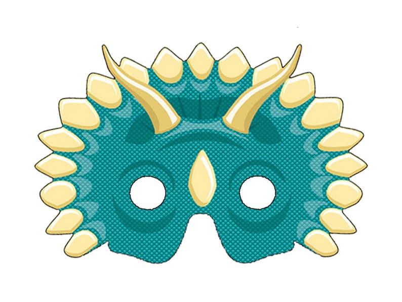 image about Dinosaur Mask Printable identified as Do-it-yourself Printable Dinosaur Masks PDF