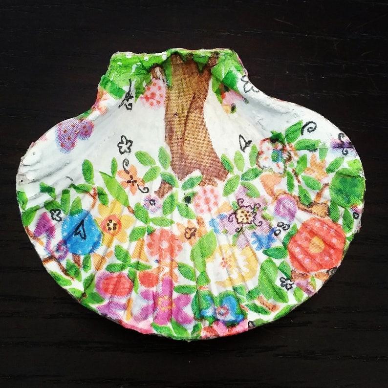 Ring Tray Ring Dish Trinket dish Small Trinket Holder Ring Holder Jewelry Holder,Decoupage Seashell ring holder,Seashell Jewellery dish
