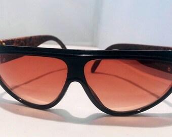 d8d93b65893 Yves Saint Laurent sunglasses red lenses big frame vintage sunglasses