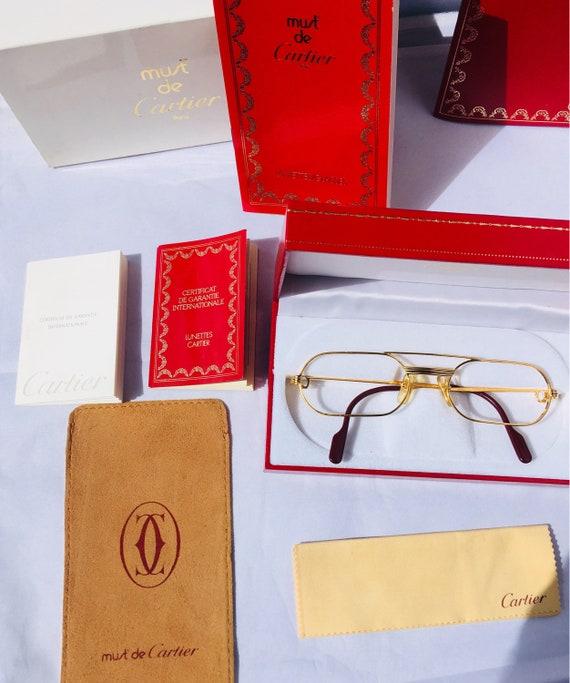 120017e976 Cartier vintage sunglasses Louis Vendome gold luxury paris