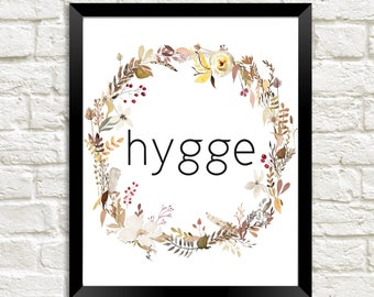 Hygge Wall Print, Hygge Print, Hygge Printable, Hygge Wall Art, Cozy Decor, Cozy Print, Cozy Wall Print, Hygge Print, Fall Printable