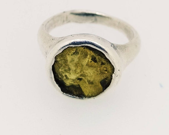 Ancient ring/Signet ring/Roman ring/bronze and silver 925/ancient Coin/Coin ring/Hand made Jewelry/last wax tecnique/Jewelry history