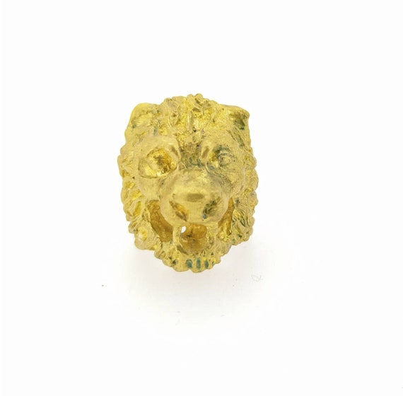 Lion ring/ancient ring/Roman Jewelry/antique jewelry/woman and man ring/Hand made/worked in wax/sculputure ring/bronze