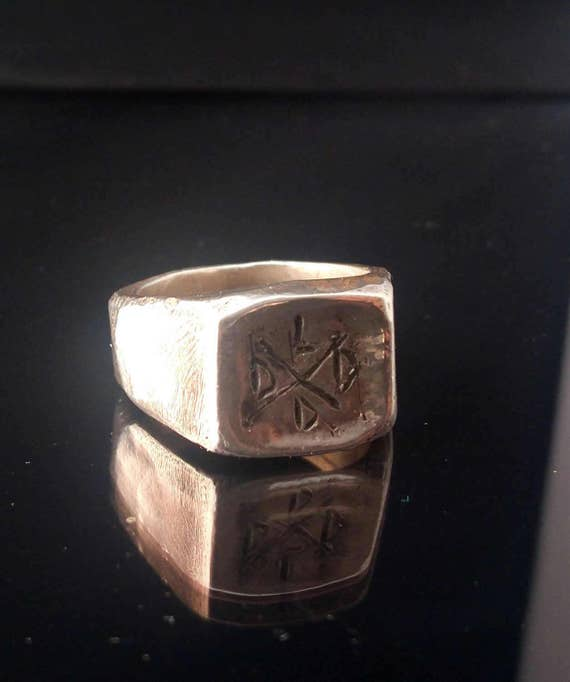 Signet ring // silver ring // man ring // hand made