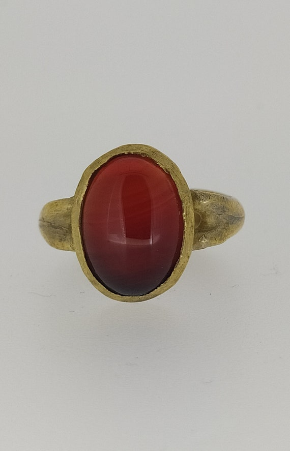 Ancient ring / roman ring / ancient shape / cornelian ring / signet ring /woman ring / bronze ring / silver ring / gold plated