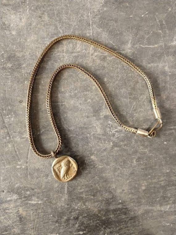 Bronze necklace / ancient necklace / ancient pendant / ancient shape / hand made / bronze pendant / wisdom pendant
